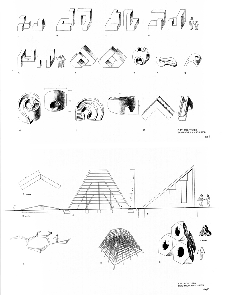 Aldo Van Eyck Drawings Play Sculptures Drawings 1970